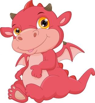Kreskówka cute baby dragon