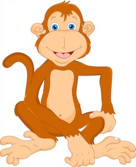 Kreskówka cute małpy