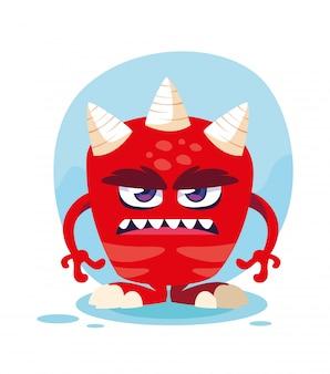 Kreskówka czerwony potwór