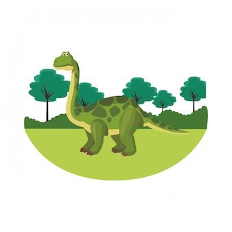 Kreskówka dinozaur brontozaur