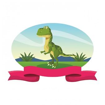 Kreskówka dinozaur tyranozaura