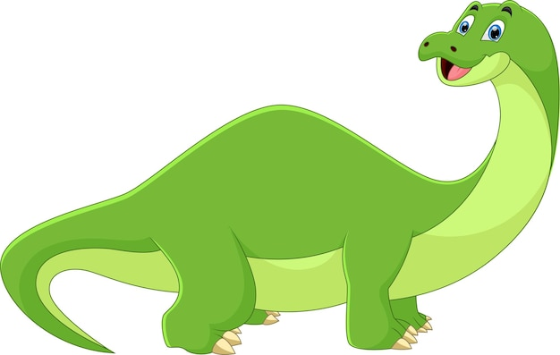 Kreskówka dinozaur uśmiechnięta poza