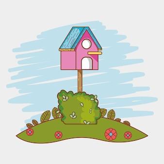 Kreskówka dom ptaków