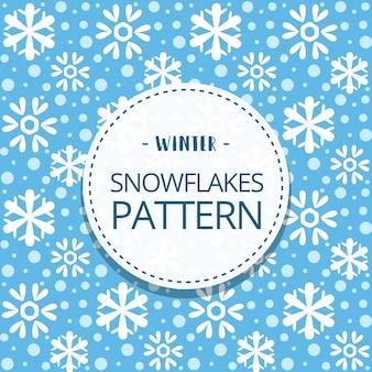 Kreskówka doodle ładny śnieg płatek zimowy wzór