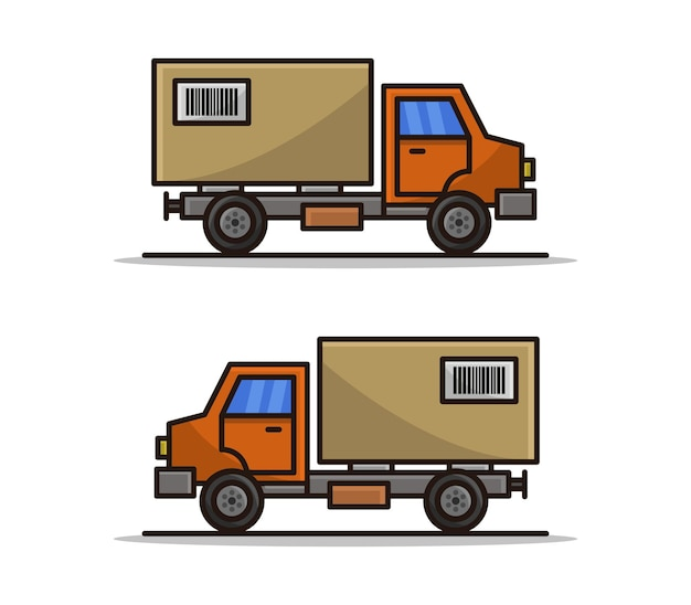 Kreskówka dostawcza ciężarówka