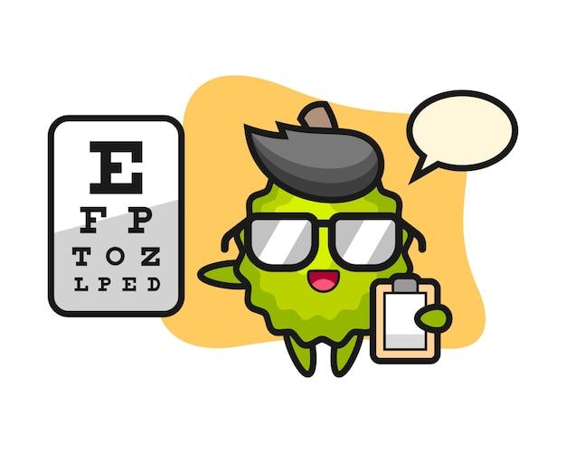Kreskówka duriana jako okulistyka