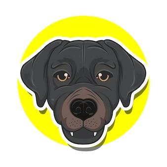Kreskówka duża głowa psa