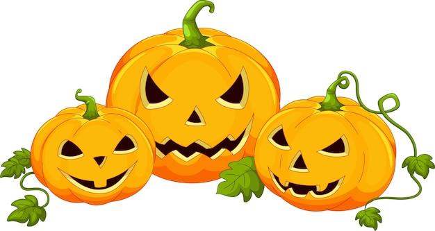 Kreskówka dyni halloween