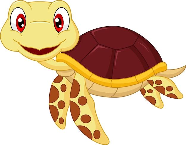 Kreskówka dziecko ładny żółw