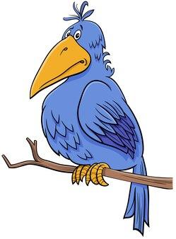 Kreskówka fantasy niebieski ptak komiks postać