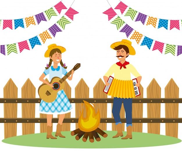 Kreskówka festa junina