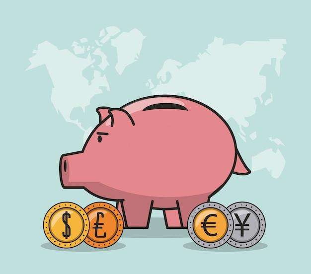 Kreskówka finansów i handlu