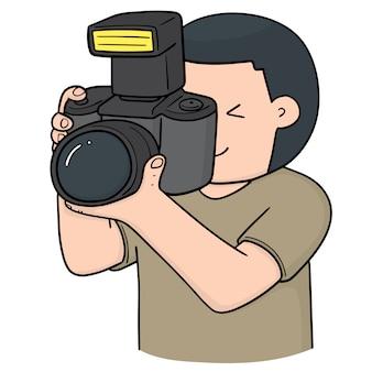 Kreskówka fotograf