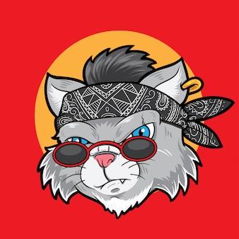 Kreskówka głowa kota