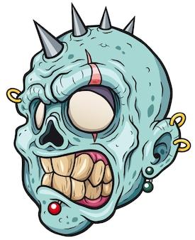 Kreskówka głowa zombie