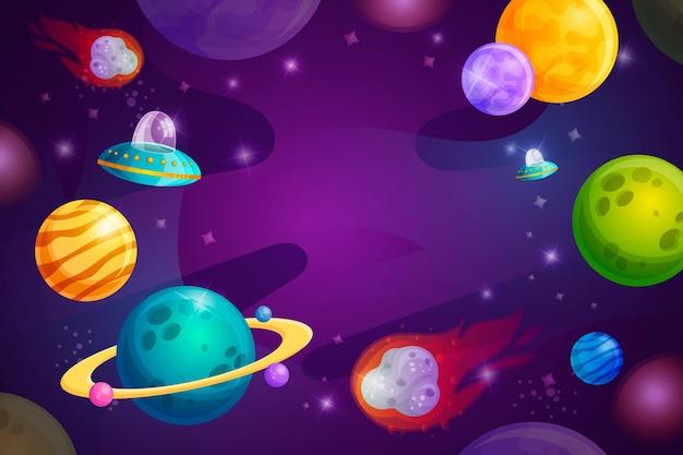 Kreskówka galaktyka tło