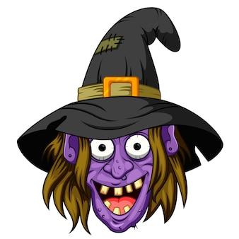 Kreskówka głowa czarownicy