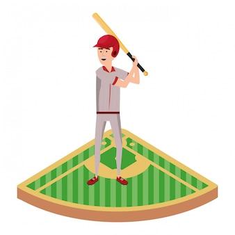 Kreskówka gracz baseballu