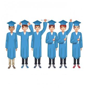 Kreskówka grupa absolwentów