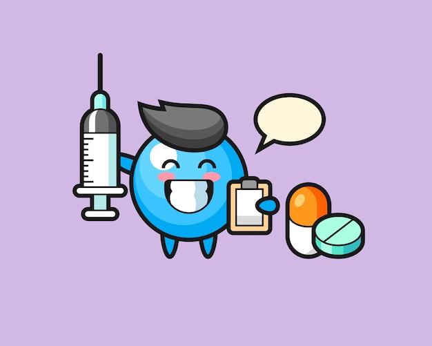 Kreskówka gumowa piłka jako lekarz