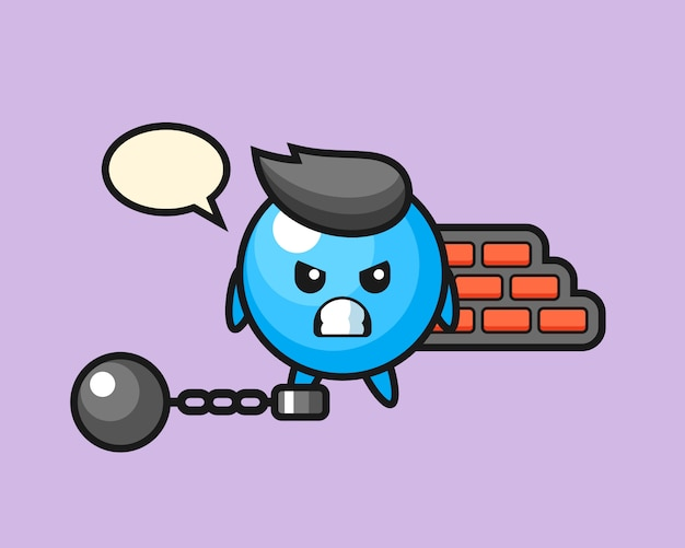 Kreskówka gumowa piłka jako więzień