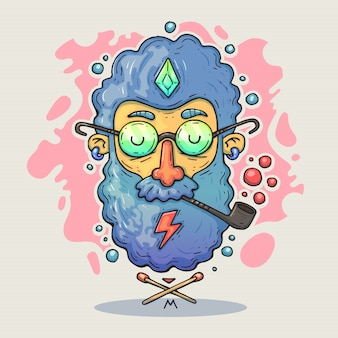 Kreskówka hipster głowy.