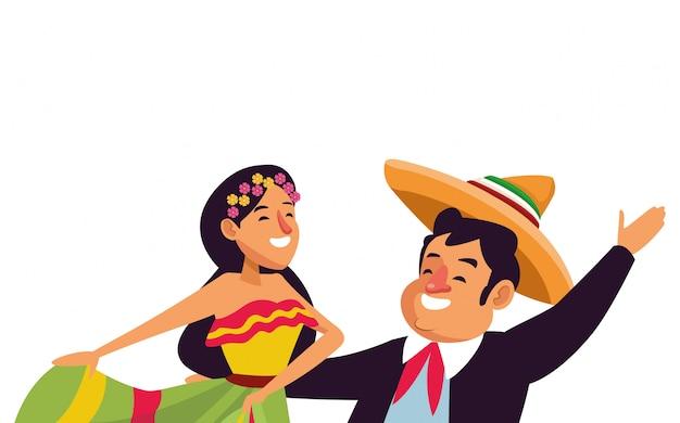 Kreskówka ikona tradycyjnej kultury meksykańskiej