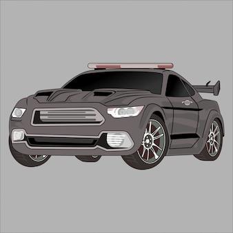 Kreskówka ilustracyjny samochód, samochód policyjny