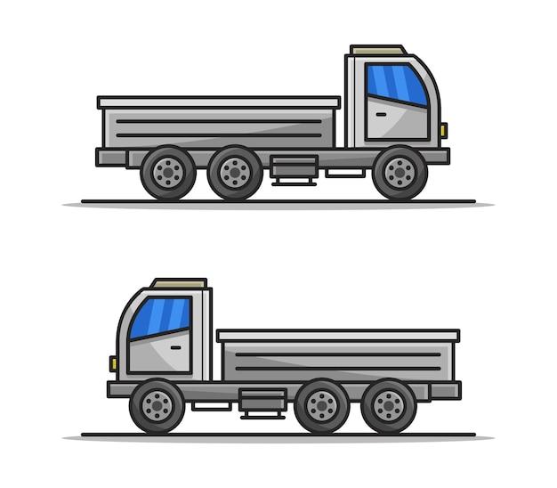 Kreskówka ilustrowana ciężarówka