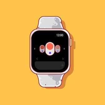 Kreskówka inteligentny zegarek nowa technologia urządzenie elektroniczne
