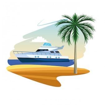 Kreskówka jacht łódź
