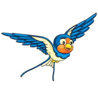 Kreskówka jaskółka ptak