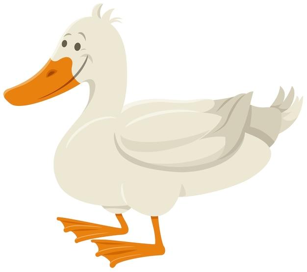 Kreskówka kaczka ptak zwierząt gospodarskich postać