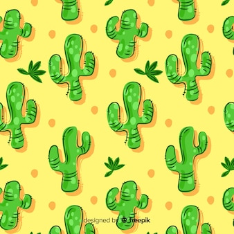 Kreskówka kaktus tło