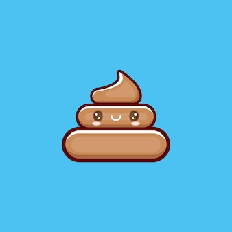 Kreskówka kawaii kupa kupy