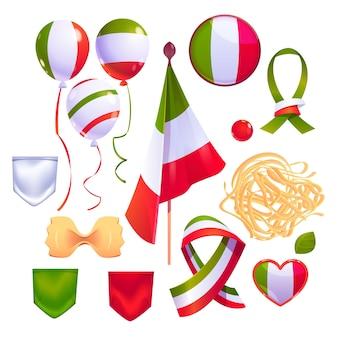 Kreskówka kolekcja elementów festa della repubblica