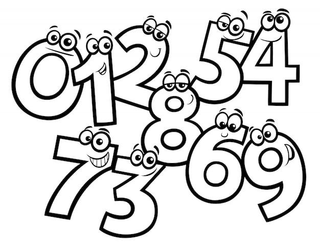 Kreskówka kolorowanka grupy podstawowe numery