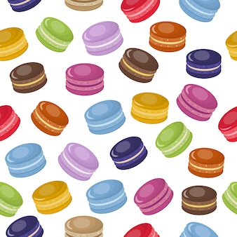 Kreskówka kolorowy słodki makaroniki wzór