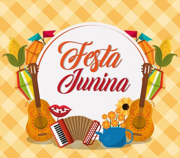 Kreskówka koncepcja festa junina