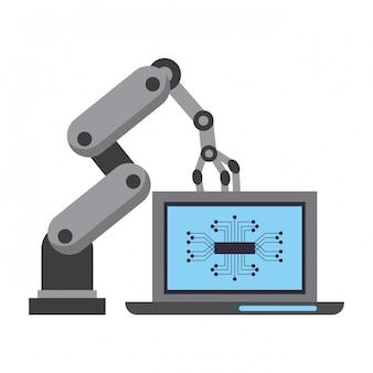 Kreskówka koncepcja sztucznej inteligencji ikony