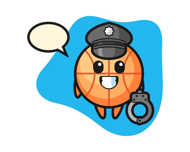 Kreskówka koszykówki jako policja