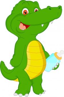Kreskówka krokodyl słodkie dziecko
