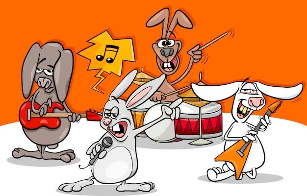 Kreskówka króliki muzyki rockowej