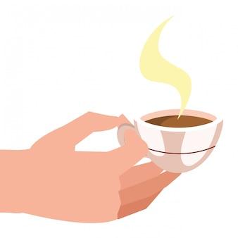 Kreskówka kubek kawy