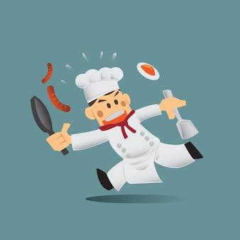 Kreskówka kucharz uroczy.