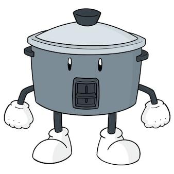 Kreskówka kuchenka ryżu