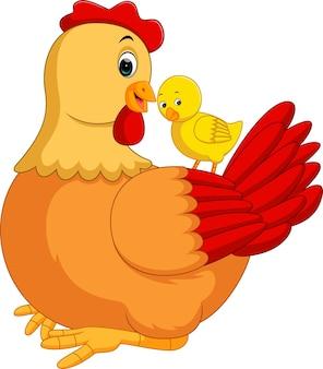 Kreskówka kura kurczak