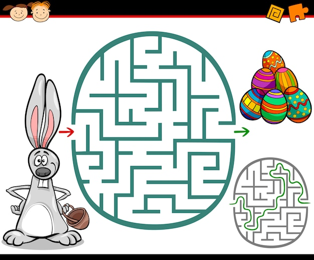 Kreskówka labirynt lub labirynt gry