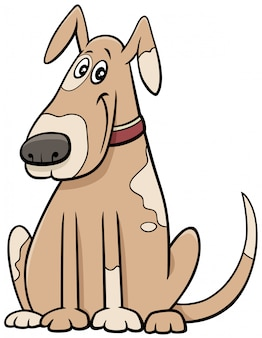 Kreskówka łaciasty pies zwierzęcy charakter w kołnierzu