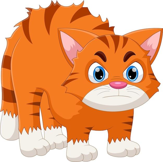 Kreskówka ładny kot jest zły